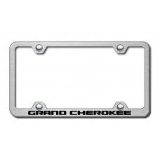 Jeep Grand Cherokee Brushed Steel Laser Etched License Plate Frame