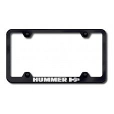 Hummer H2 Black Laser Etched License Plate Frame
