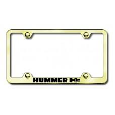 Hummer H2 Gold Laser Etched License Plate Frame
