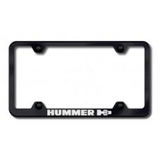 Hummer H3 Black Laser Etched License Plate Frame