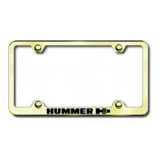 Hummer H3 Gold Laser Etched License Plate Frame