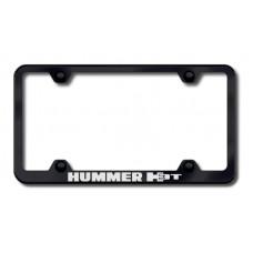 Hummer H3T Black Laser Etched License Plate Frame