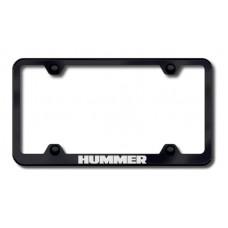Hummer Black Laser Etched License Plate Frame