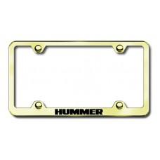 Hummer Gold Laser Etched License Plate Frame