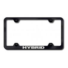 Hybrid Black Laser Etched License Plate Frame