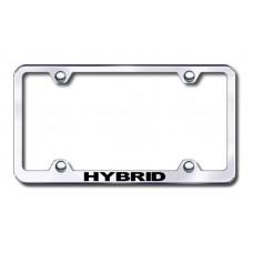 Hybrid Chrome Laser Etched License Plate Frame