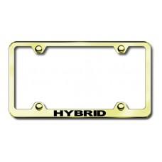 Hybrid Gold Laser Etched License Plate Frame