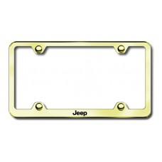 Jeep Gold Laser Etched License Plate Frame