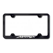Toyota Matrix Black Laser Etched License Plate Frame