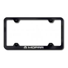 Chrysler Mopar Black Laser Etched License Plate Frame