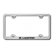 Chrysler Mopar Brushed Steel Laser Etched License Plate Frame