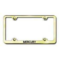 Mercury Thin Gold Laser Etched License Plate Frame