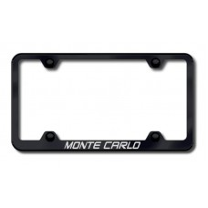 Chevrolet Monte Carlo Thin Black Laser Etched License Plate Frame