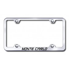 Chevrolet Monte Carlo Thin Chrome Laser Etched License Plate Frame