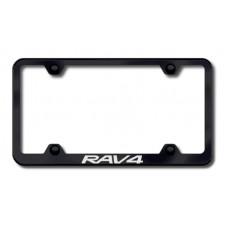 Toyota RAV4 Black Laser Etched License Plate Frame