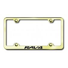 Toyota RAV4 Gold Laser Etched License Plate Frame