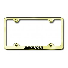 Toyota Sequoia Thin Gold Laser Etched License Plate Frame