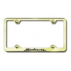 Toyota Salaro Thin Gold Laser Etched License Plate Frame