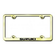 Suzuki Thin Gold Laser Etched License Plate Frame