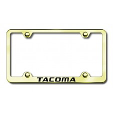 Toyota Tacoma Thin Gold Laser Etched License Plate Frame