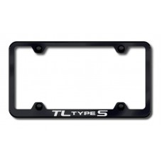 Acura TL Type S Thin Black Laser Etched License Plate Frame