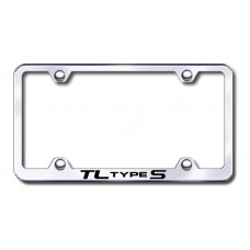 Acura TL Type S Thin Chrome Laser Etched License Plate Frame