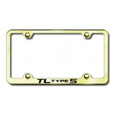 Acura TL Type S Thin Gold Laser Etched License Plate Frame