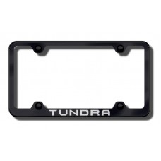 Toyota Tundra Thin Black Laser Etched License Plate Frame
