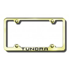 Toyota Tundra Thin Gold Laser Etched License Plate Frame