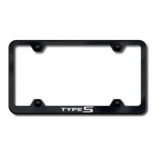 Acura Type S Thin Black Laser Etched License Plate Frame