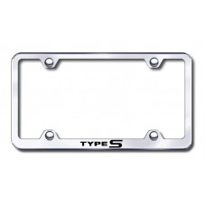 Acura Type S Thin Chrome Laser Etched License Plate Frame