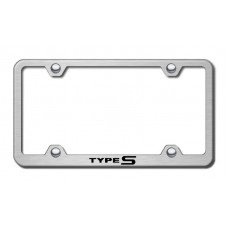 Acura Type S Thin Gold Laser Etched License Plate Frame