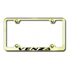 Toyota Venza Thin Gold Laser Etched License Plate Frame