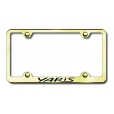 Toyota Yaris Thin Gold Laser Etched License Plate Frame