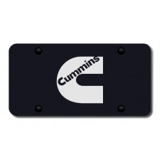 Toyota Cummins Black License Plate
