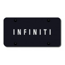Infiniti Laser Etched Black License Plate