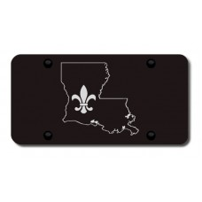 Louisiana Laser Etched Black License Plate