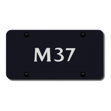 Infiniti M37 Laser Etched Black License Plate