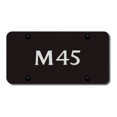 Infiniti M45 Laser Etched Black License Plate