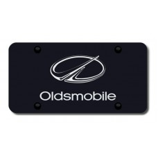 Oldsmobile Laser Etched Black License Plate