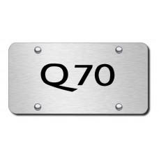 Infiniti Q70 Laser Etched Black on Brushed Steel License Plate