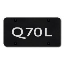 Infiniti Q70L Laser Etched Black License Plate