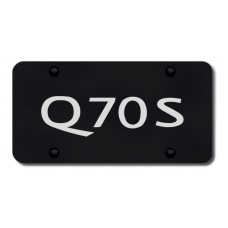 Infiniti Q70S Laser Etched Black License Plate