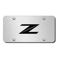Nissan Z Laser Etched Black on Chrome License Plate