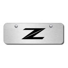 Nissan Z Laser Etched Black on Chrome Mini License Plate
