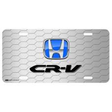 Honda CR-V Blue Logo on Grey Hex License Plate