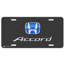 Honda Accord Blue Logo on Black Line License Plate
