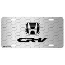 Honda CR-V Black Logo on Grey Hex License Plate