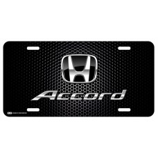 Honda Accord Black Logo on Black License Plate