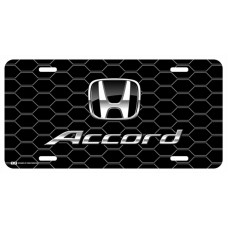 Honda Accord Black Logo on Black Hex License Plate